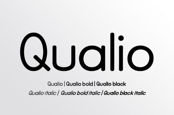 Print on Demand: Qualio Family Sans Serif Fuente Por bbakey