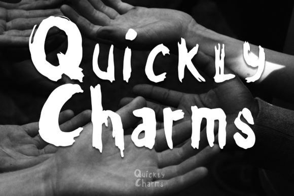 Print on Demand: Quickly Charms Display Font By rometheme