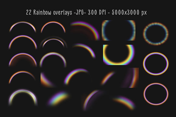 Download Free Rainbow Overlays And Textures Graphic By Mixpixbox Creative for Cricut Explore, Silhouette and other cutting machines.
