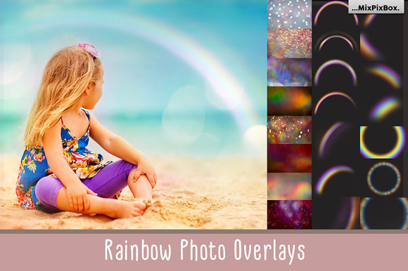Print on Demand: Rainbow Overlays and Textures Graphic Layer Styles By MixPixBox