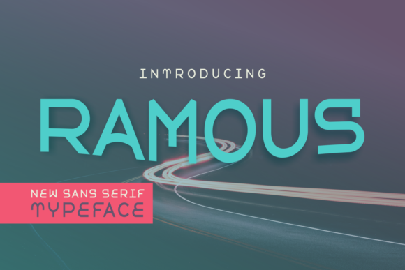 Print on Demand: Ramous Sans Serif Font By Lutfi - 7NTypes