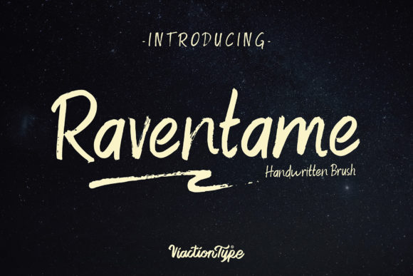 Print on Demand: Raventame Script & Handwritten Font By Viaction Type.Co