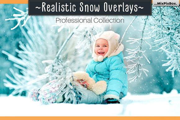 Print on Demand: Realistic Snow Overlays Graphic Layer Styles By MixPixBox