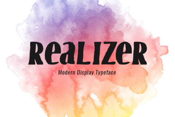 Print on Demand: Realizer Display Font By Spanking Fonts