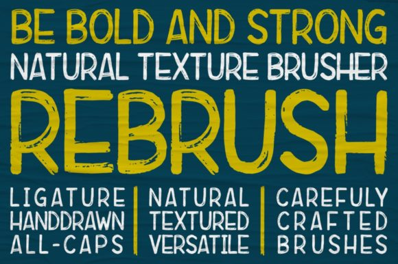 Print on Demand: Rebrush Sans Serif Font By indotitas