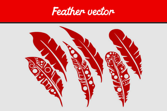 Download Free Red Birds Feather Vector Image Graphic By Arief Sapta Adjie for Cricut Explore, Silhouette and other cutting machines.