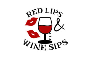 Red Lips and Wine Sips Craft Design By Creative Fabrica Crafts