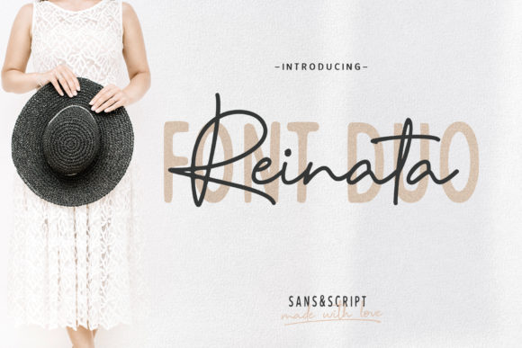 Print on Demand: Reinata Duo Script & Handwritten Font By Andrie Nugrie