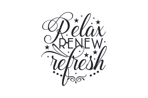 Relax, Renew, Refresh Bathroom Craft Cut File By Creative Fabrica Crafts