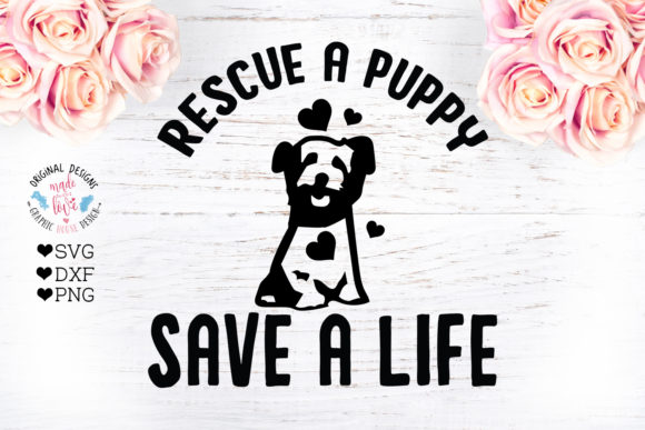 Print on Demand: Rescue a Puppy - Dog Pet Rescue Cut File Graphic Crafts By GraphicHouseDesign - Image 1