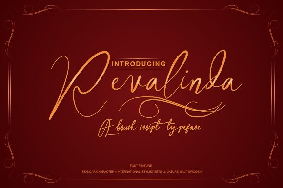 Print on Demand: Revalinda Script & Handwritten Font By victoriant99