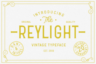 Reylight Display Font By Dani (7NTypes)