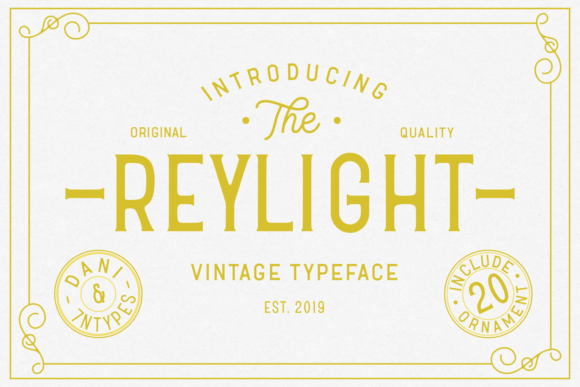 Print on Demand: Reylight Display Font By Dani (7NTypes)
