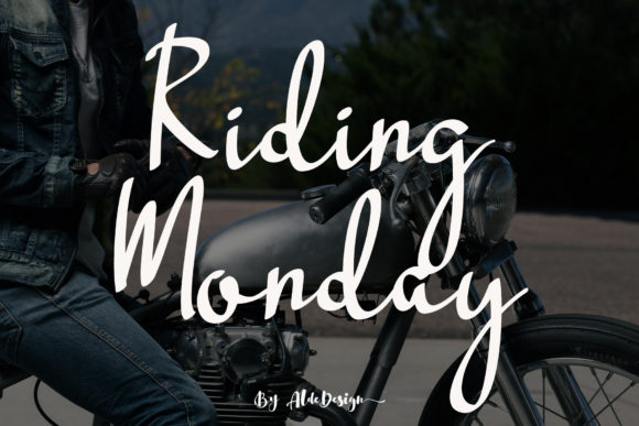 Print on Demand: Riding Monday Script & Handwritten Font By aldedesign