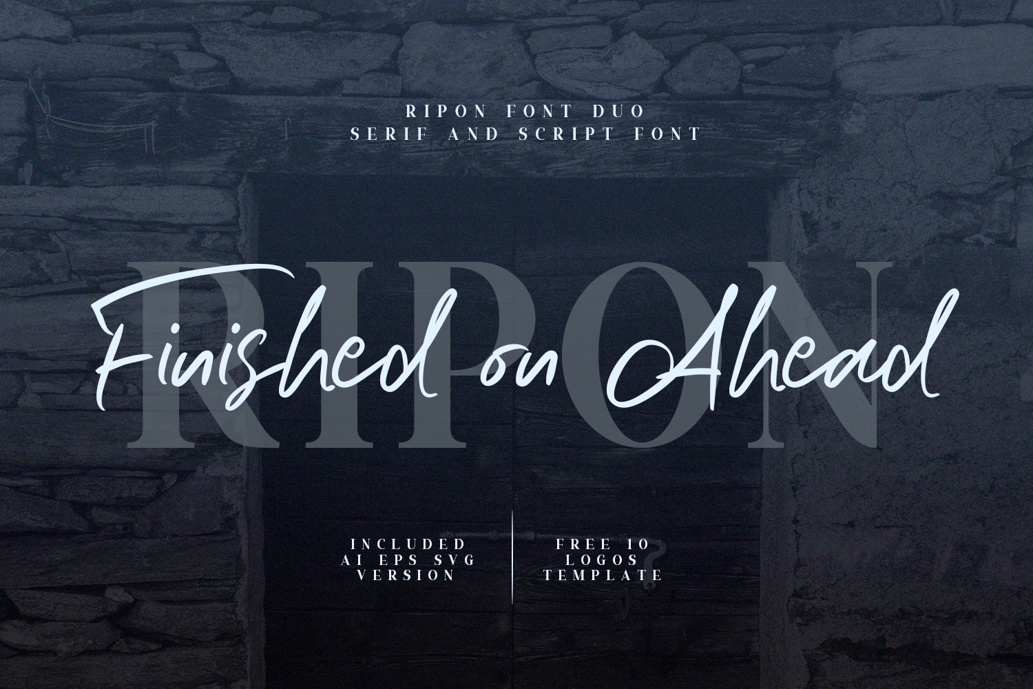 Download Free Ripon Duo Font By Sameeh Media Creative Fabrica for Cricut Explore, Silhouette and other cutting machines.