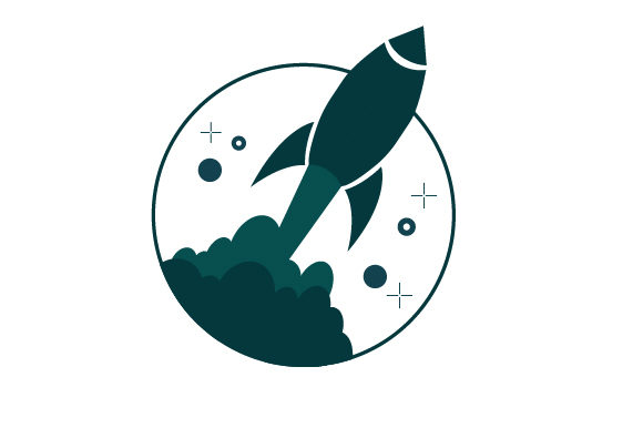 Print on Demand: Rocket Icon Graphic Icons By arus