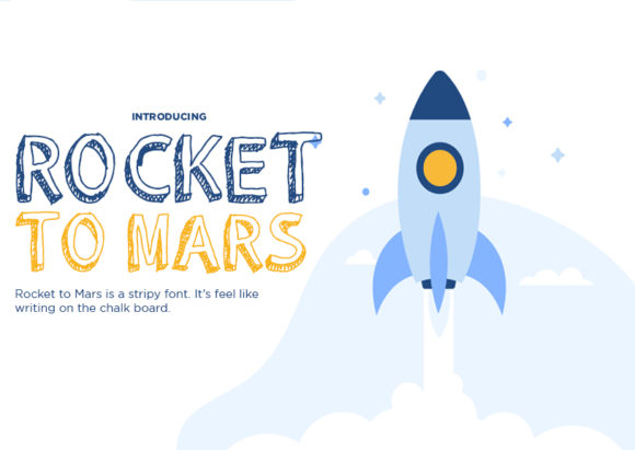 Rocket to Mars Display Font By Docallisme