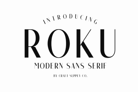 Print on Demand: Roku Family Sans Serif Font By craftsupplyco
