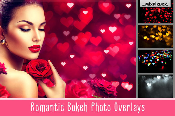 Print on Demand: Romantic Bokeh Photo Overlays Graphic Layer Styles By MixPixBox