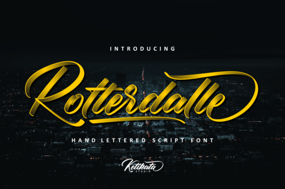 Print on Demand: Rotterdalle Script Script & Handwritten Font By Ketikata Studio