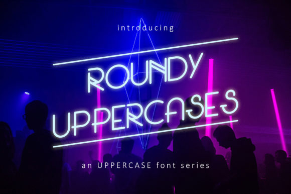 Print on Demand: Roundy Uppercases Sans Serif Font By Freegoodstock - Image 1