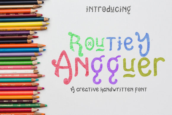 Print on Demand: Routiey Angguer Display Font By rometheme