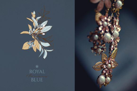 Royal Blue Flowers Graphic By webvilla Image 3