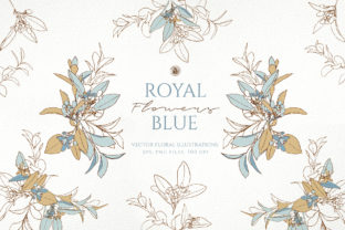 Royal Blue Flowers Graphic By webvilla