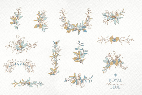 Royal Blue Flowers Graphic By webvilla Image 6
