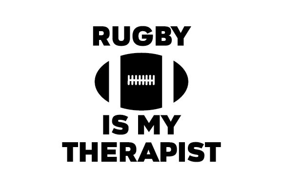 Download Free Rugby Is My Therapist Svg Cut File By Creative Fabrica Crafts Creative Fabrica for Cricut Explore, Silhouette and other cutting machines.
