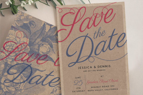 Download Free Rustic Wedding Invitations Graphic By Blue Robin Design Shop for Cricut Explore, Silhouette and other cutting machines.