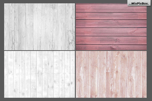 Print on Demand: Rustic Wood Textures Graphic Textures By MixPixBox - Image 3