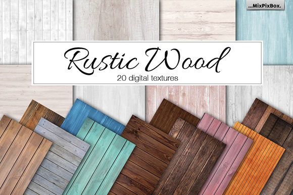 Print on Demand: Rustic Wood Textures Graphic Textures By MixPixBox