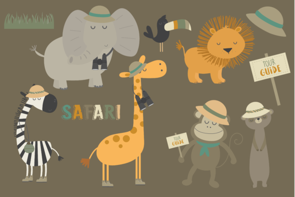 Download Free Safari Graphic By Poppymoondesign Creative Fabrica for Cricut Explore, Silhouette and other cutting machines.