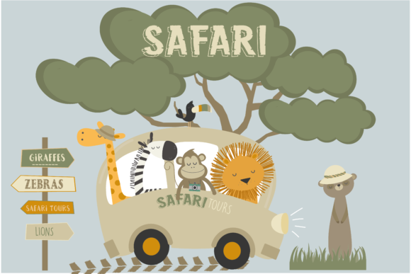 Print on Demand: Safari Gráfico Ilustraciones Por poppymoondesign