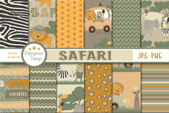 Print on Demand: Safari Papers Graphic Patterns By poppymoondesign