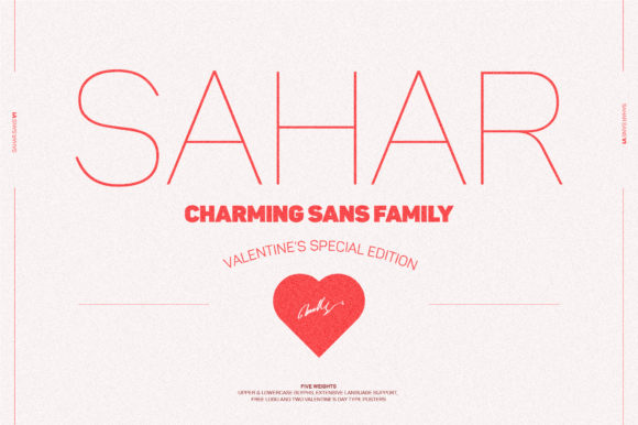 Print on Demand: Sahar Family Sans Serif Fuente Por mokhatib
