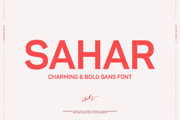Print on Demand: Sahar Sans Serif Font By mokhatib