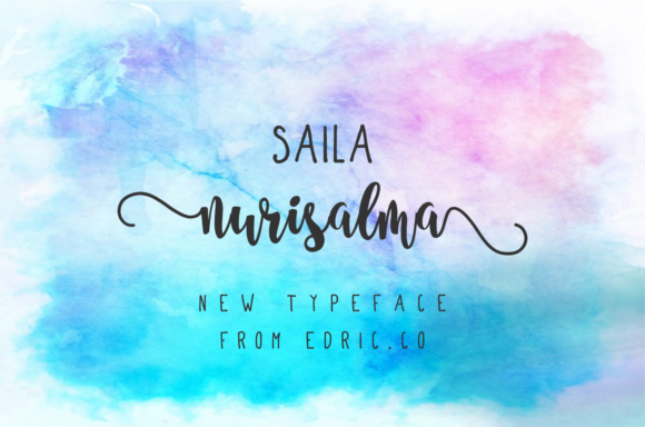 Download Free Saeela Nuary Font By Edricstudio Creative Fabrica for Cricut Explore, Silhouette and other cutting machines.