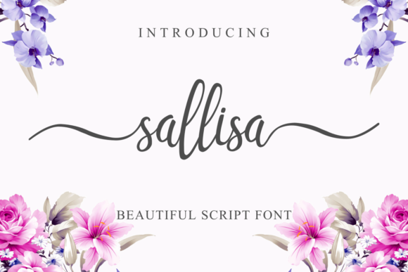 Print on Demand: Sallisa Script & Handwritten Font By pandanwangi