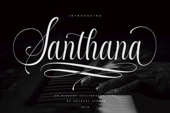 Print on Demand: Santhana Script & Handwritten Font By RochArt
