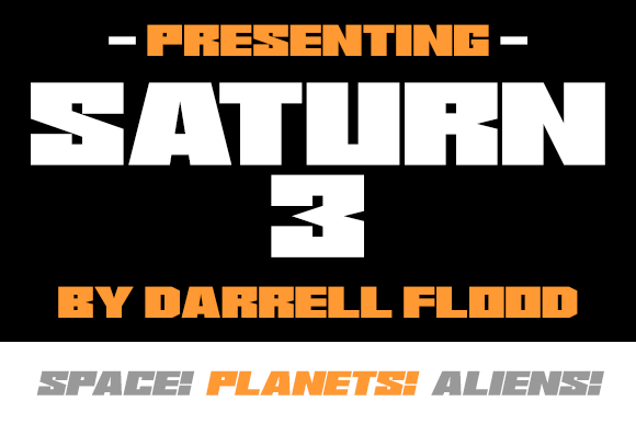 Print on Demand: Saturn 3 Display Font By Dadiomouse