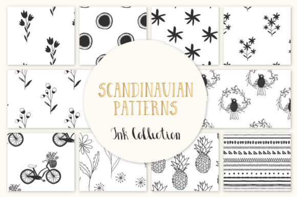 Scandinavian Seamless Patterns Graphic Patterns By anatartan