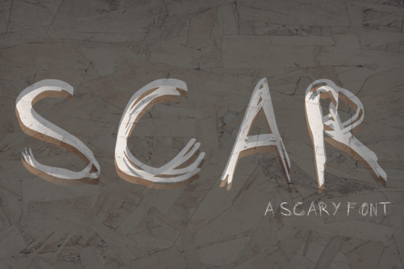 Print on Demand: Scar Script & Handwritten Font By GraphicsBam Fonts