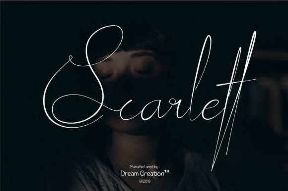 Print on Demand: Scarlett Script & Handwritten Font By DreamCreation