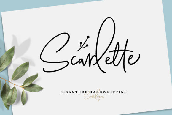 Print on Demand: Scarlette Script Script & Handwritten Font By saridezra