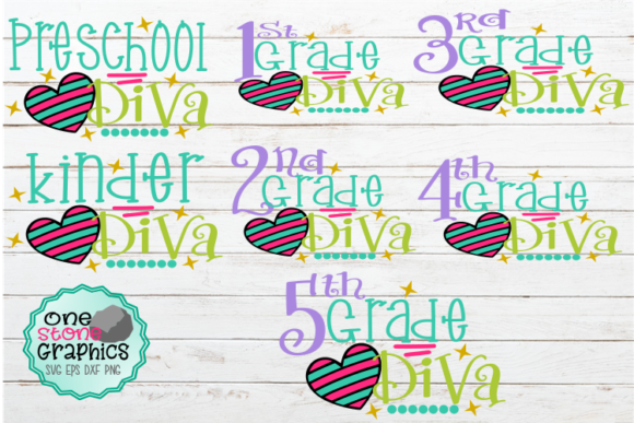 School Diva Bundle Svg Graphic Crafts By OneStoneGraphics
