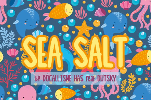 Print on Demand: Sea Salt Sans Serif Schriftarten von Docallisme