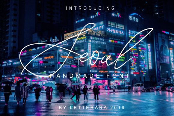 Print on Demand: Seoul Family Script & Handwritten Font By thomasaradea