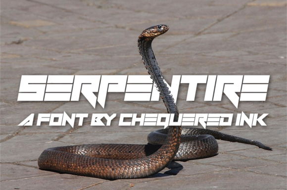 Print on Demand: Serpentire Display Font By Chequered Ink